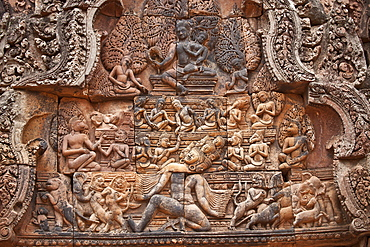 Banteay Srei Temple, Angkor, UNESCO World Heritage Site, Siem Reap, Cambodia, Indochina, Southeast Asia, Asia