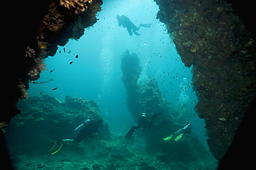 Cave diving, Southern Thailand, Andaman Sea, Indian Ocean, Southeast Asia, Asia