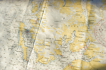 Maps. Svalbard archipelago . Longyearbyne, Svalbard, Norway