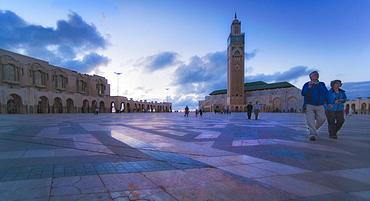 11/04/2009. Hassan II Mosque (worlds 2nd largest), afternoon. Morocco, Al-Magreb, Casablanca. Casablanca, Casablanca City, Morocco. Morocco
