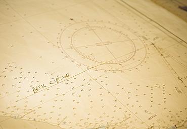Arctic Cirle on board the Clipper Odyssey, map, charts,  Arctic Circle (Bering Sea)  Russia, Asia