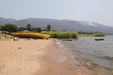 Edge of Lake Tanganyika in Talpia Village, Zambia, Africa
