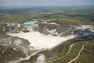 Clay pit, St. Austell, Cornwall, England, United Kingdom, Europe