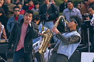 Singer and musician, Horajuku, Tokyo, Japan, Asia
