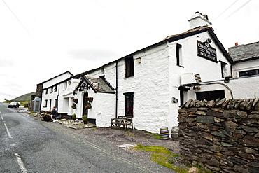 The Kirkstone Pass Inn dating from the 15th century, Kirkstone Pass, Cumbria, England, United Kingdom, Europe