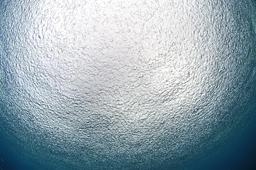 Rain on sea surface from below.  Malaysia   (RR)