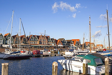 Volendam harbour, North Holland Province, The Netherlands (Holland), Europe