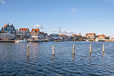 Volendam harbour, North Holland, The Netherlands (Holland), Europe