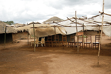 An IDP camp (internally displaced people) in Te-Tugu district of Northern Uganda has been created to accommodate the mass of Ugandan refugees fleeing the LRA (Lords Resistance Army) who are fighting the Ugandan government and its people. Te-Tugu, Uganda, East Africa