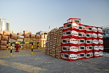 Free-trade port Dubai Creek, goods ranging from chewing gum to car tyres, Dubai, United Arab Emirates, Middle East