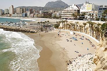 View of the beach in Benidorm, Costa Blanca, Spain, Mediterranean, Europe