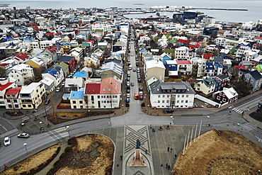 Reykjavik Harbour and Old Town, Iceland, Polar Regions