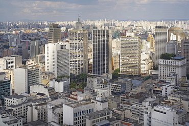 Centro Sao Paulo traditionally the highest concentration of skyscrapers, new high-rise rub shoulders with more modest structures, Sao Paulo, Brazil, South America