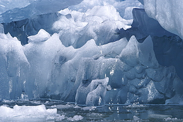 Detail of a very unusual iceberg calved from the Sawyer Glacier in Tracy Arm in southeast Alaska, USA.