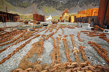 Abandoned machinery at the Grytviken whaling station, Norway