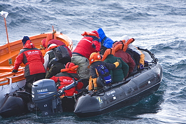 Images of the rescue of 154 people from the sinking expedition ship Explorer in Antarctica