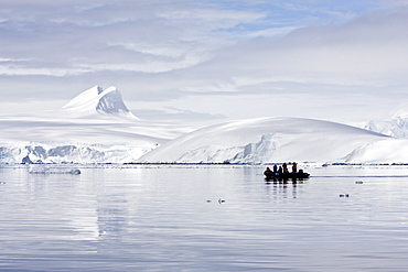 Guests from the Lindblad Expedition ship National Geographic Endeavour, Antarctica