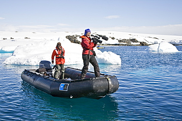 Natural history staff from the Lindblad Expedition ship National Geographic Explorer doing various things in and around the Antarctic Peninsula
