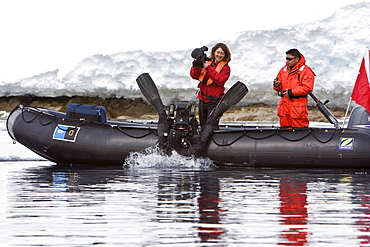 Natural history staff from the Lindblad Expedition ship National Geographic Endeavour doing various things in and around the Antarctic Peninsula