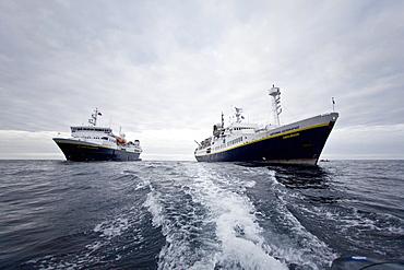The Lindblad Expedition ships National Geographic Explorer and National Geographic Endeavour, Antarctica