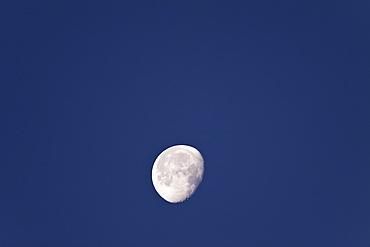 The waxing moon over the Baja Peninsula, Baja California Sur, Mexico.