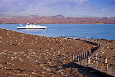 The Lindblad Expedition ship National Geographic Endeavour  operating in the Galapagos Islands, Ecuador, Pacific Ocean.