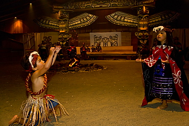 Hamatsa dancers from the Kwakwa_ka_'wakw first nations people in Alert Bay, British Columbia, Canada. No model or property releases for this image.