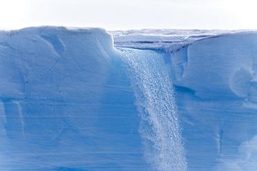 Views of Austfonna, an ice cap located on Nordaustlandet in the Svalbard archipelago in Norway
