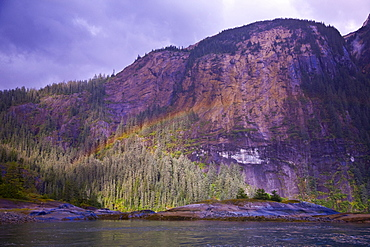 Rainbow in Ford's Terror, Southeast Alaska, USA