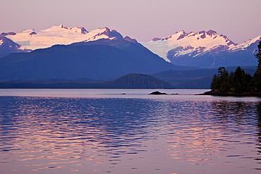 Sunrise on East Point, Chichagof Island, Southeast Alaska, USA, Pacific Ocean.
