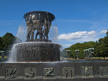 Scenic views of the Vigeland Sculpture Park in Oslo, Norway