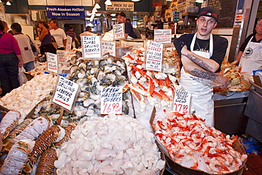 Pike Place Market in downtown Seattle, Washington, USA