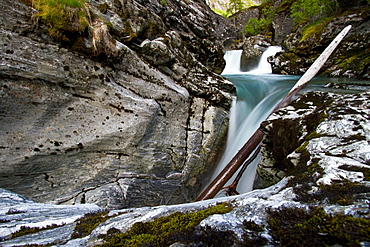 Water melting from the Briksdalsbreen glacier south of the small town of Olden in coastal Norway