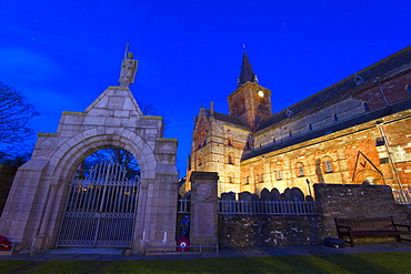 12th Century St. Magnus Cathedral in the town of Kirkwall, Orkney Islands, Scotland