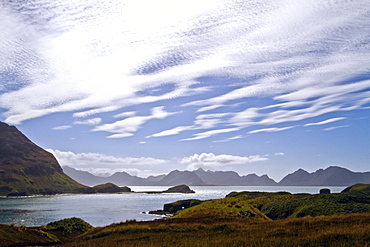 Views of Fortuna Bay on the northern coast of South Georgia, Southern Ocean