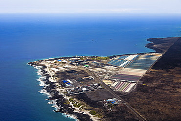 National Energy Laboratory of Hawaii Authority (NELHA) - a state agency that operates a unique and innovative ocean science and technology park, strategically located at Keahole Point next to the Kona International Airport and adjacent to one of the steepest bathymetric offshore slopes in the Hawaiian Islands, developing clean energy, various aquaculture and other ocean-related research by utilizing deep cold seawater from 2,000-foot depth, Kona Coast, Big Island, Hawaii, Pacific Ocean