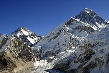 Mount Everest. from  Kala Pattar, Kumbu Glacier,  Nepal