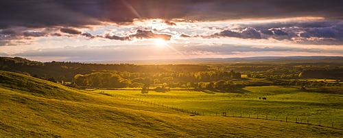 Sunset at a nature reserve at Studland, Dorset, England, United Kingdom, Europe