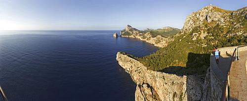 Viewpoint, Mirador d es Colomer, Mirador de Mal Pas, Cap de Formentor, cape Formentor, Mallorca, Balearic Islands, Spain, Europe