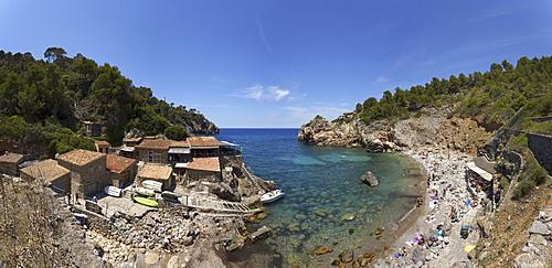 Cala Dei·, cove, beach, near Dei·, Serra de Tramuntana, Tramuntana mountains, Mallorca, Balearic Islands, Spain, Europe