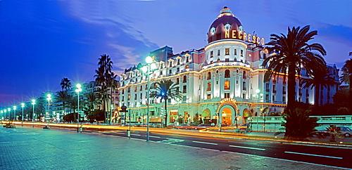 Promenade des Anglais, Hotel Negresco, Nizza, France