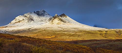 Kristinartindar, an eroded volcanic mountain, Skaftafell, East Iceland, Iceland