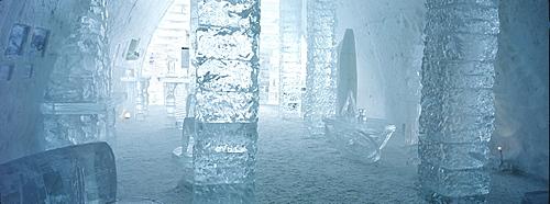 Interior of Ice Hotel, Quebec City, Quebec