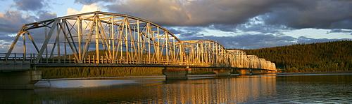 Teslin River Bridge at Sunset, Teslin, Yukon