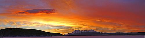 Sunrise over Teslin Lake, Teslin, Yukon