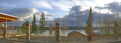 Clan Totem Poles, Teslin, Yukon
