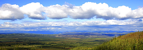 Late afternoon sun over the Tintina Trench near the Dempster Highway, Yukon