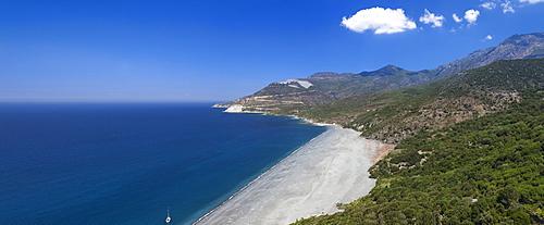 Beach of Nonza, Corsica, France, Mediterranean, Europe