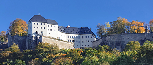 Koenigstein Fortress, Saxony Switzerland National Park, Saxony, Germany, Europe