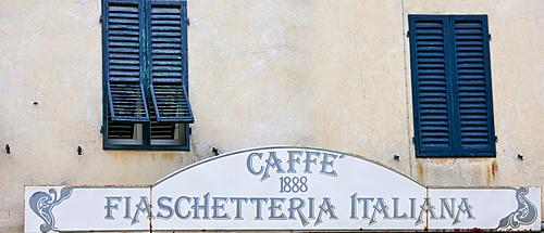 Restaurant and bar Caffe 1888 Fiaschetteria Italiana in Piazza del Popolo, Montalcino, Val D'Orcia,Tuscany, Italy